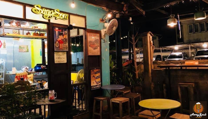 ร้านมะลิร้อย บาร์ นั่งจิบเบียร์ชิลชมธรรมชาติเมืองแพร่ awaygpub