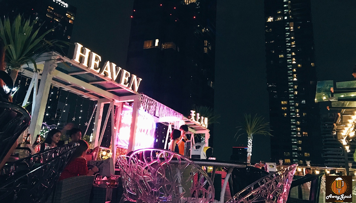 Heaven Rooftop Bar บาร์ลับหลักร้อยที่เห็นวิวหลักล้าน awaygpub