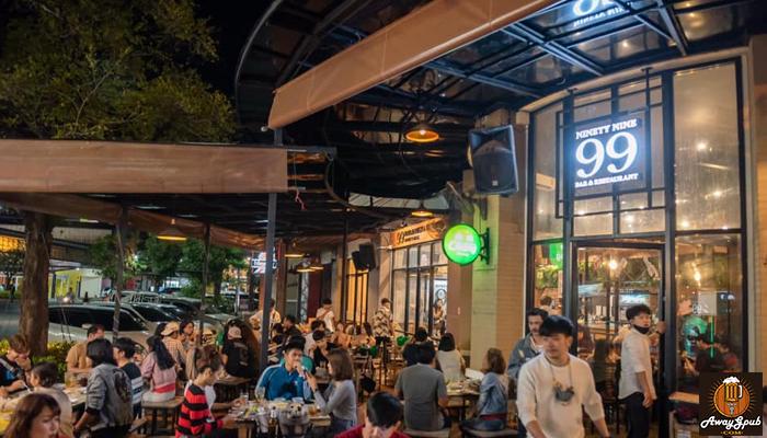 Ninety Nine Bar and Restaurant ร้านอาหารที่นั่งชิวแบบคูลๆ awaygpub