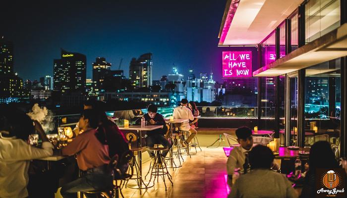 Nowhere BKK Rooftop Bar บาร์ลับแสนโรแมนติกและเป็นกันเอง awaygpub